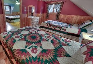 Chambre du chalet 2 pour location de chalet