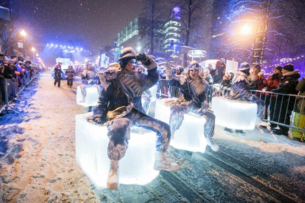 Photo du défilé de nuit du Carnaval de Québec