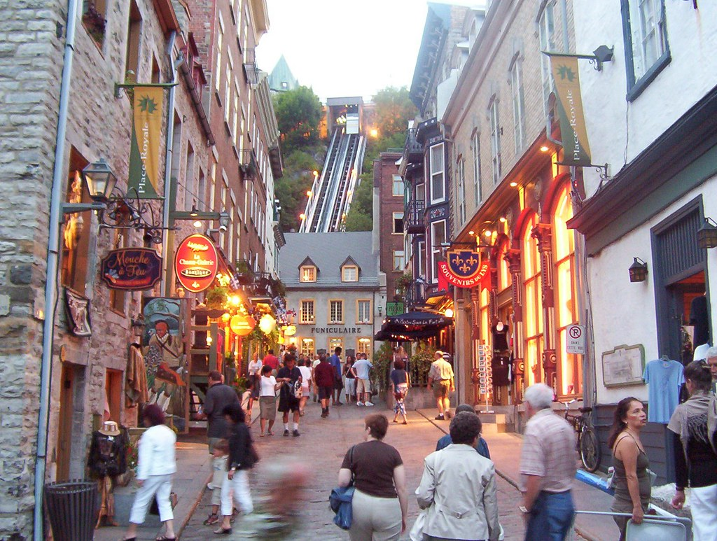 Rue du vieux Quebec au Canada