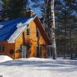 Location de chalet au quebec sous la neige, les chalets sur le cap