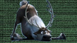 """Caribou """"Sven"""" de la reine des neiges qui a glissé au sol"""